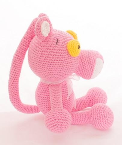 Çocuklar İçin Pembe Panter Amigurumi Örgü Oyuncak Bebek - 58 cm ... | 480x406